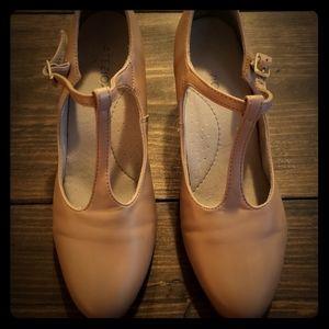 Leather ballroom dance shoes